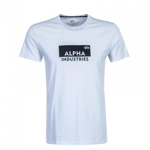 Herren T-Shirt Box Logo T White Black