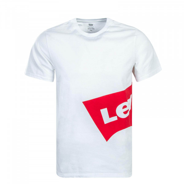 Levis TS Graphic Over White Red
