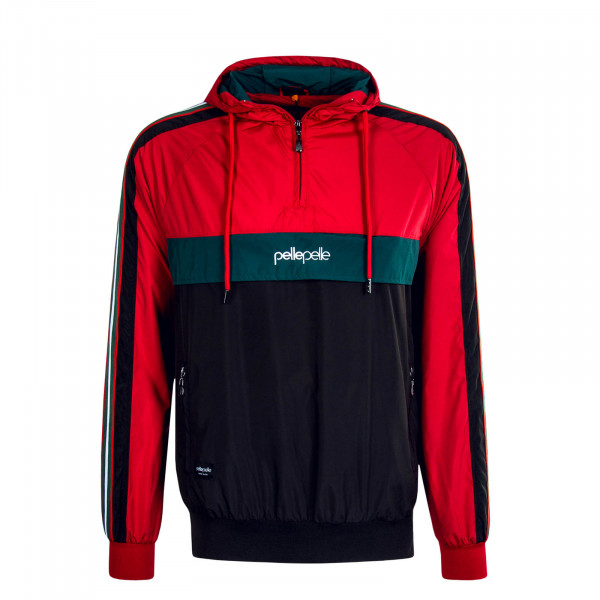 Herren-Windbreaker 6008 Red Green Black
