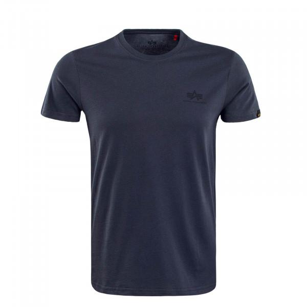 Herren T-Shirt Small Basic Greyblack Black