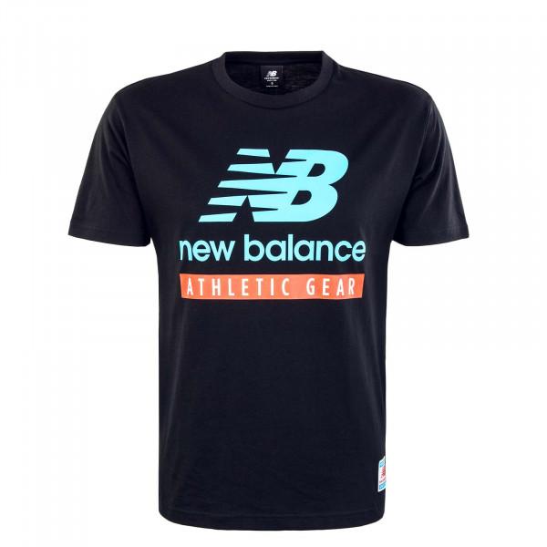 Herren T-Shirt - Essential Logo - Black / Blue