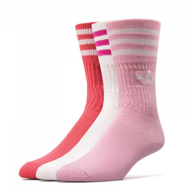 Adidas Socks Solid Crew Pink White Red