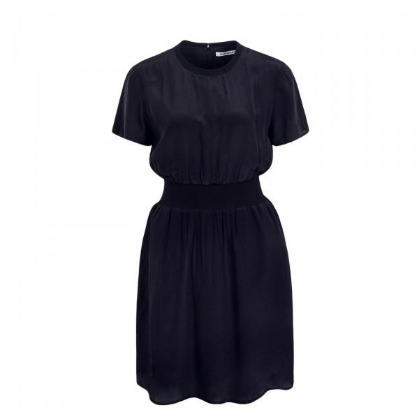 Dress Faux Silk Black
