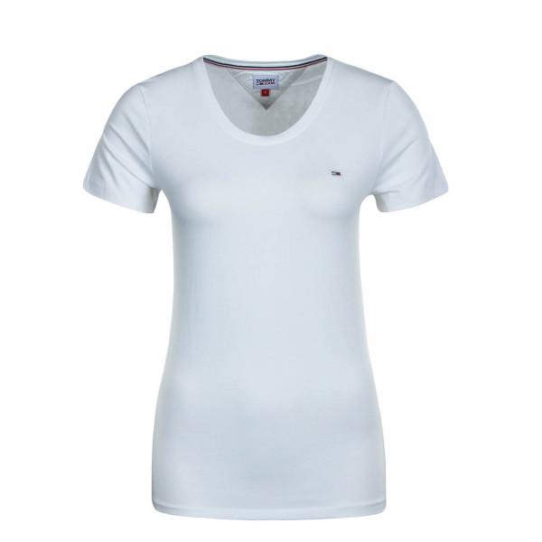 Damen T-Shirt - Stretch Crewneck - White