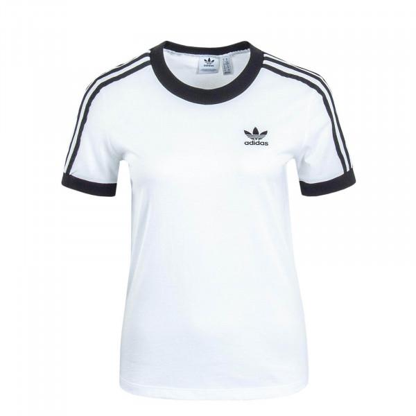 Damen T-Shirt 3 Stripes White Black
