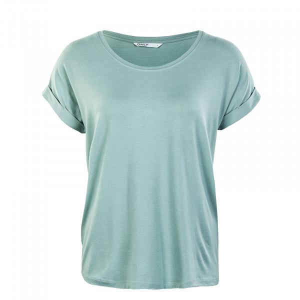 Damen T-Shirt - Moster Neck Top - Jadeite
