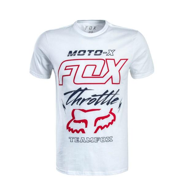 Fox TS Throttled White Red