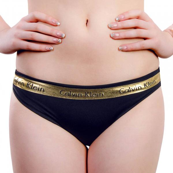 CK Wmn Bikini Slip 245 Black Gold