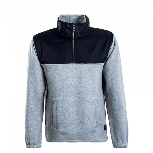 Herren Sweatshirt Quarter Zip Grey Black