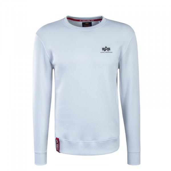 Herren Sweatshirt Basic Sweater Small White
