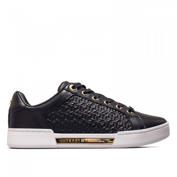 Damen Sneaker - Monogram - Black / Gold