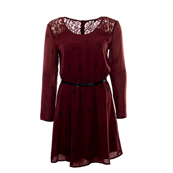 Only Dress Stella Bordeaux