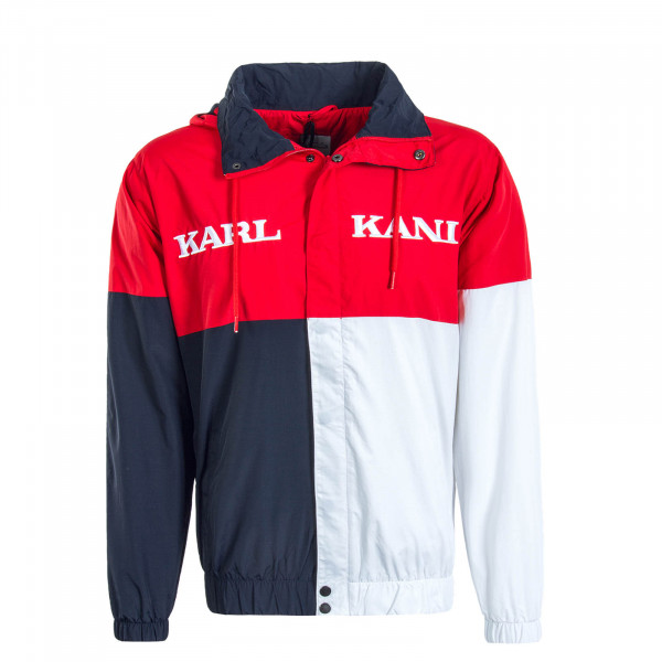 Herren Jacke Retro Block Red Navy White