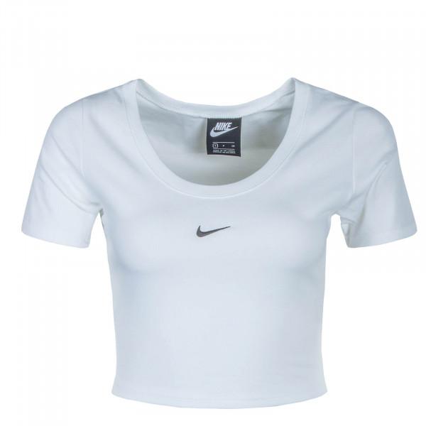 Damen Crop Top CU5174 NSW Essential White Black