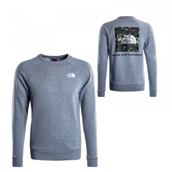Herren Sweatshirt Raglan Redbox Grey