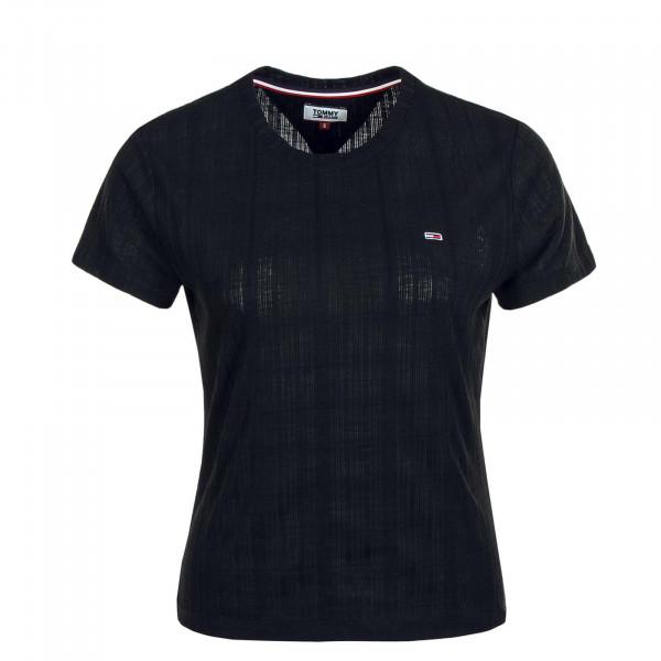 Damen T-Shirt Texture Black