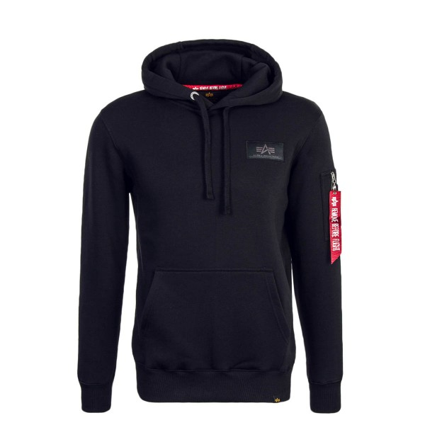 Alpha Hoody Back Print Black