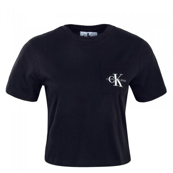 Crop-Top Monogram Pocket Black