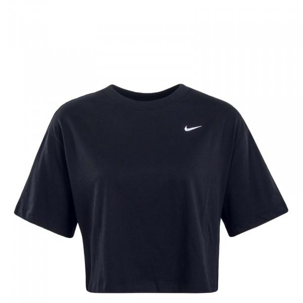 Damen T-Shirt Crop Essential Black
