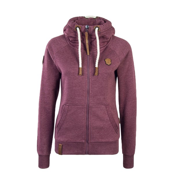 Naketano Wmn Sweatjkt Brazzo Bordeaux