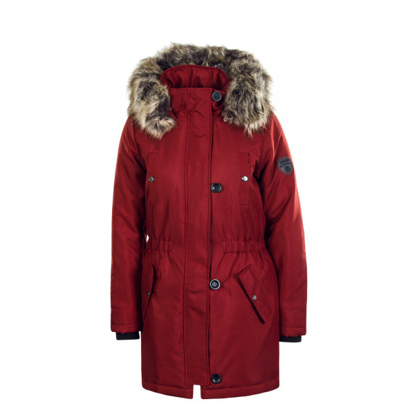 Damen Mantel Iris Fur Merlot