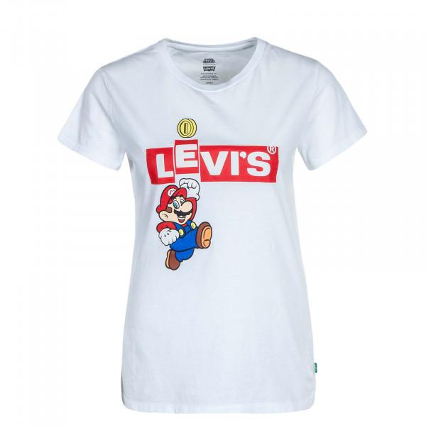 Damen T-Shirt Perfect Mario White