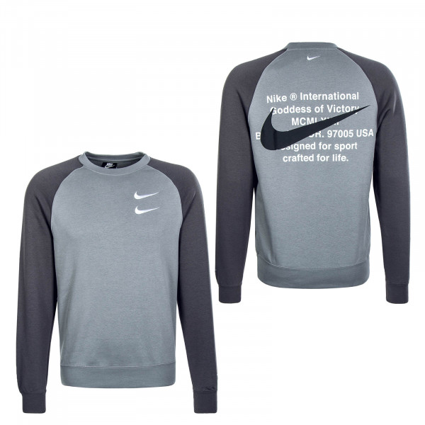 Herren Sweat Swoosh 4865 Grey Anthrazit