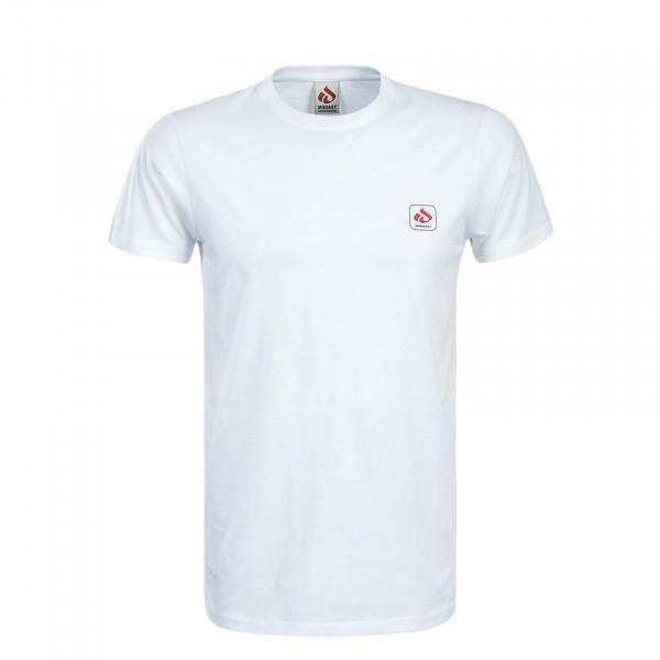 Herren T-Shirt Mini Glyph White Red