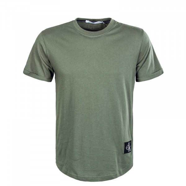 Herren T-Shirt - Badge Turn Up Sleeve Duck - Green