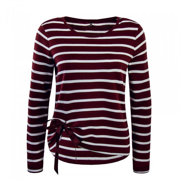 Damen Pullover Bordeaux Stripe