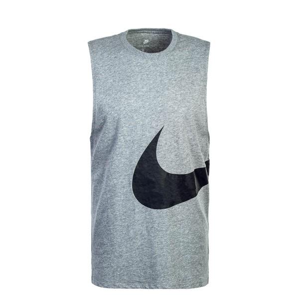 Nike Tank Hybrid Swoosh Grey Black
