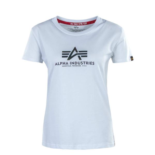 Damen T-Shirt - New Basic Rainbow Reflective Print - White