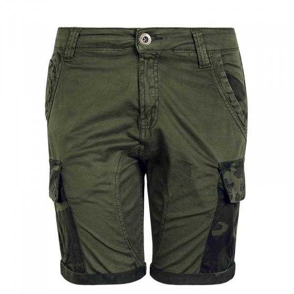 Herren Short Camouflage Pocket Olive