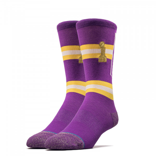 Socken NBA Lakers Banner Purple Yellow
