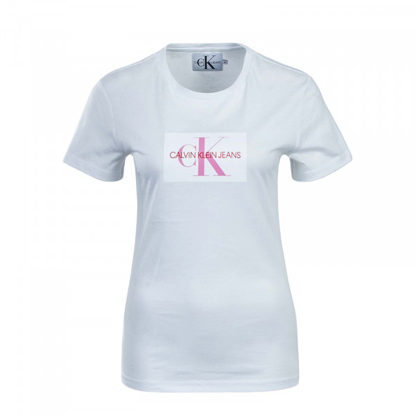 CK Wmn TS Flock White Pink