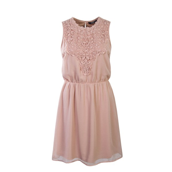 Only Dress Laura Chrochet Alt Rose