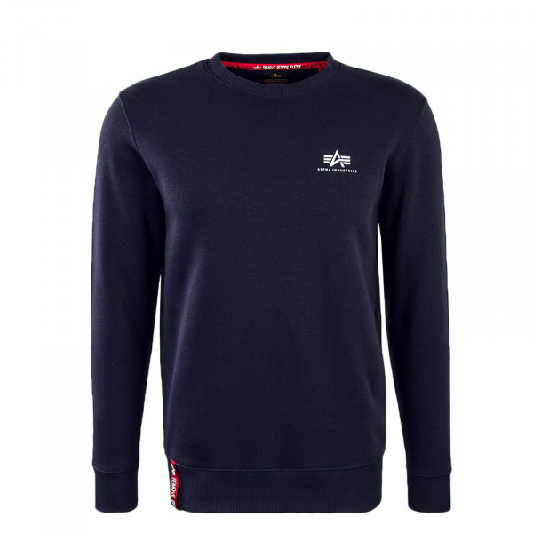 Alpha Sweat Basic Sweater Small Navy