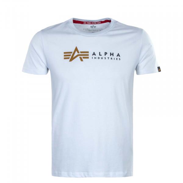 Herren T-Shirt - Label - White