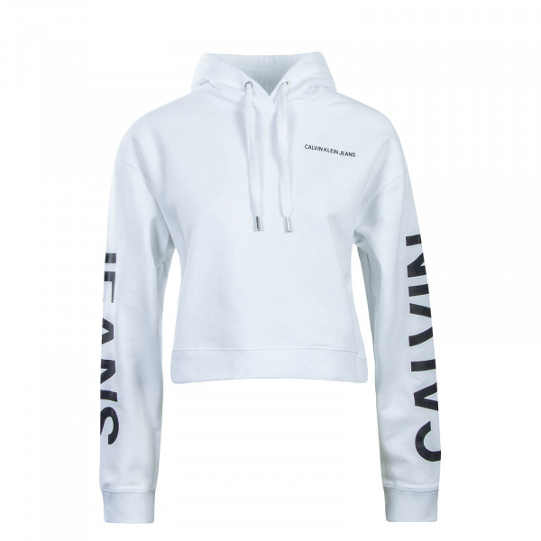 CK Wmn Hoody Cropped Institutiona White