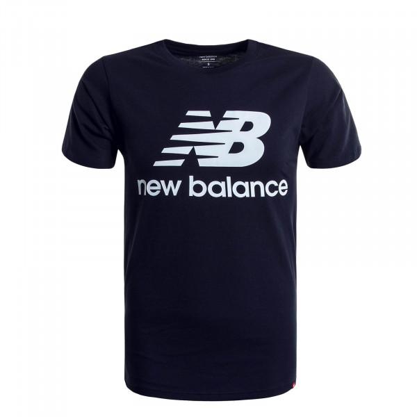 Herren T-Shirt Essentials Stacked Navy