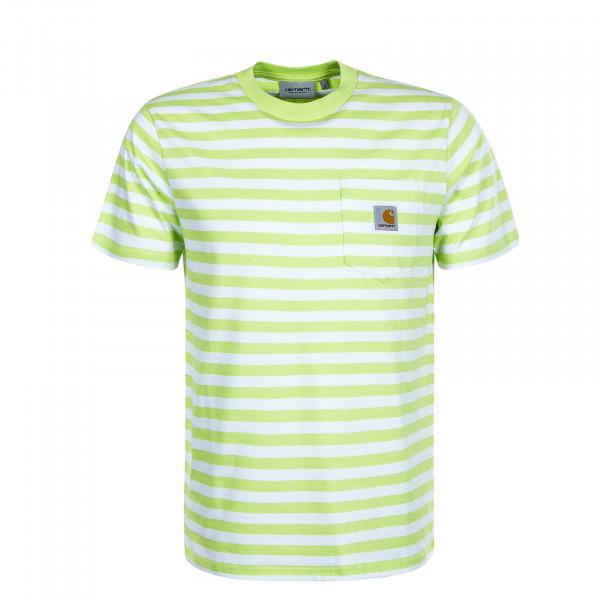 Herren T-Shirt - Scotty Stripe - Lime White