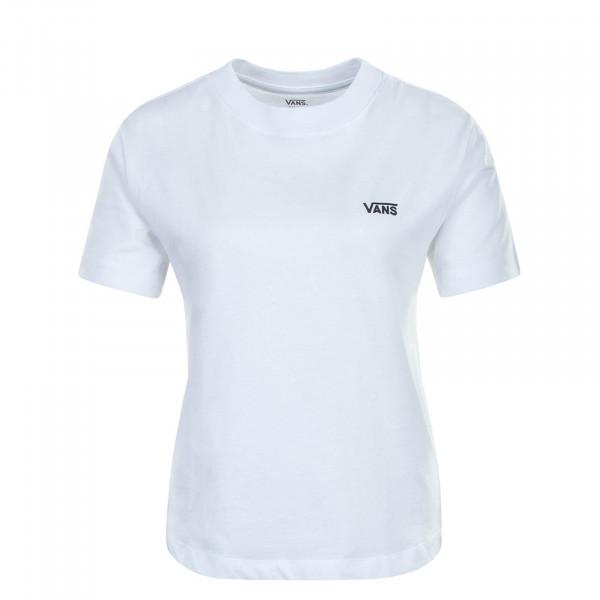 Damen T-Shirt Junior V Boxy White