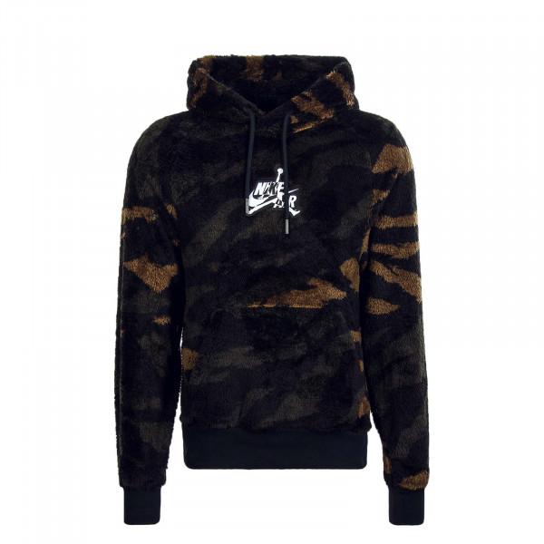 Herren Hoody Wings Sherpa Camouflage Black