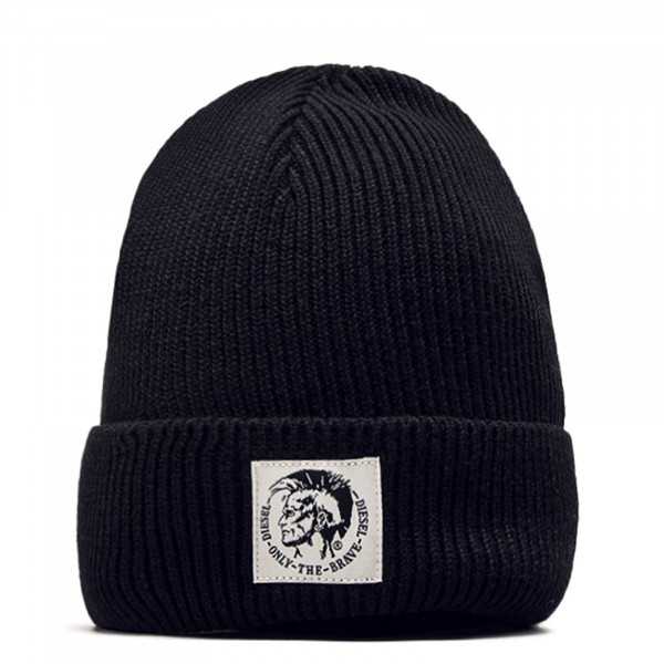 Diesel Beanie Coder Black White