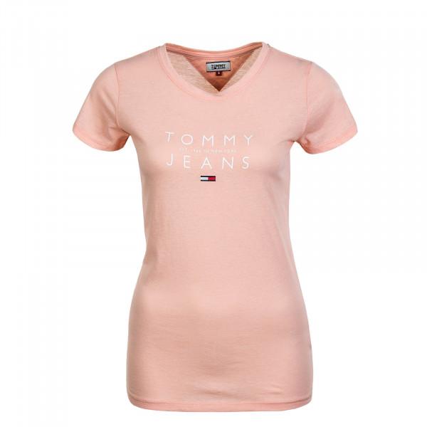 Damen T-Shirt Essential Logo Tee 8470 Sweet Peach
