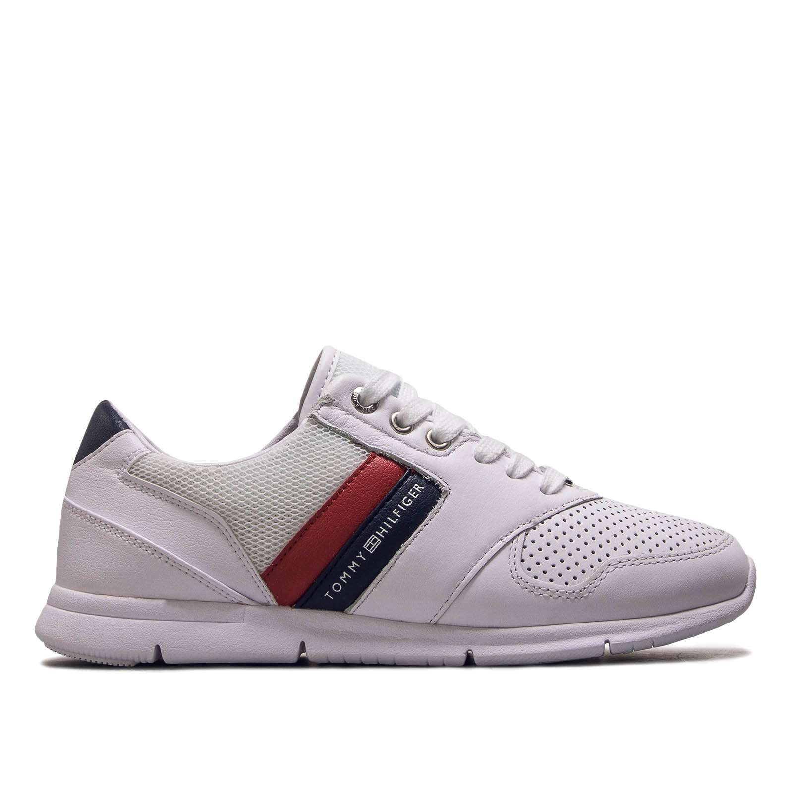 Tommy Hilfiger Damen Sneakers Turnschuhe Fw0fw04261-020 Weiß Neu