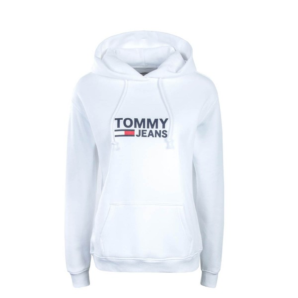Tommy Wmn Hoody Corp Logo White