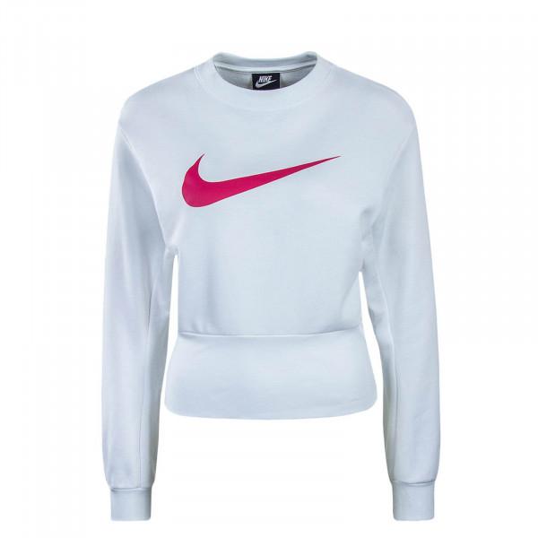 Damen Sweatshirt Swoosh White Pink