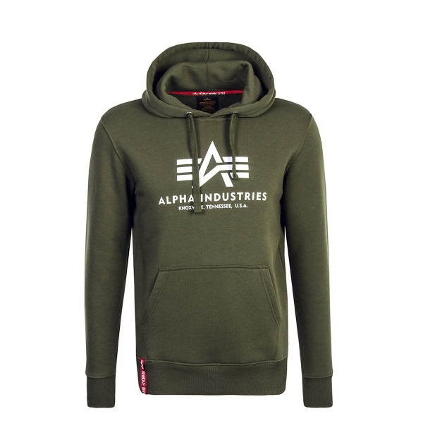 Alpha Hoody Basic Olive White