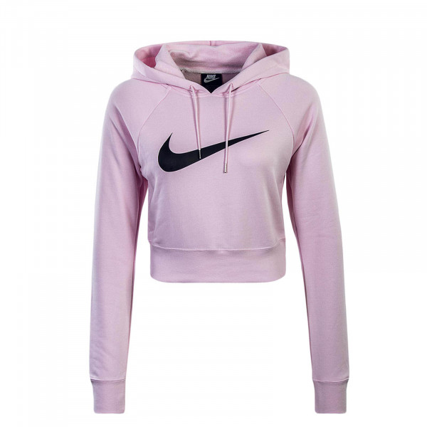 Damen Hoody Swoosh Crop Rose Black